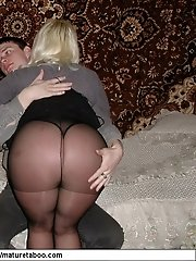 Older sweet babe licks his anal hole and has her legs on his young shoulders while fucking